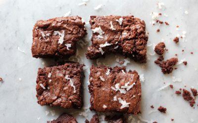 Coconut Oil Fudge Brownies