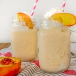 Caramelised Peach Milkshakes