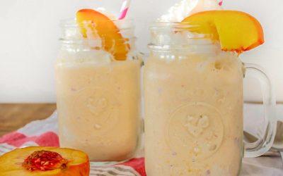 Caramelised Peach Milkshakes