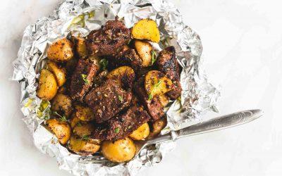 Garlic Steak and Potatos